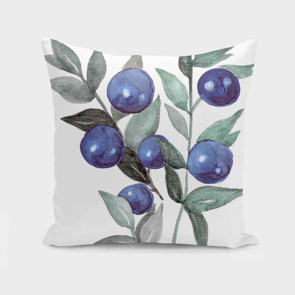 winter berries blue