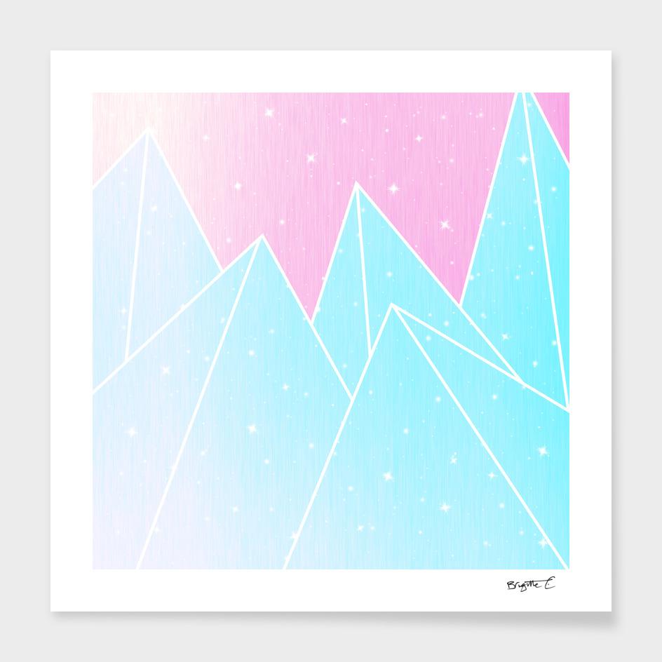 Sparkly Blue Crystals Design