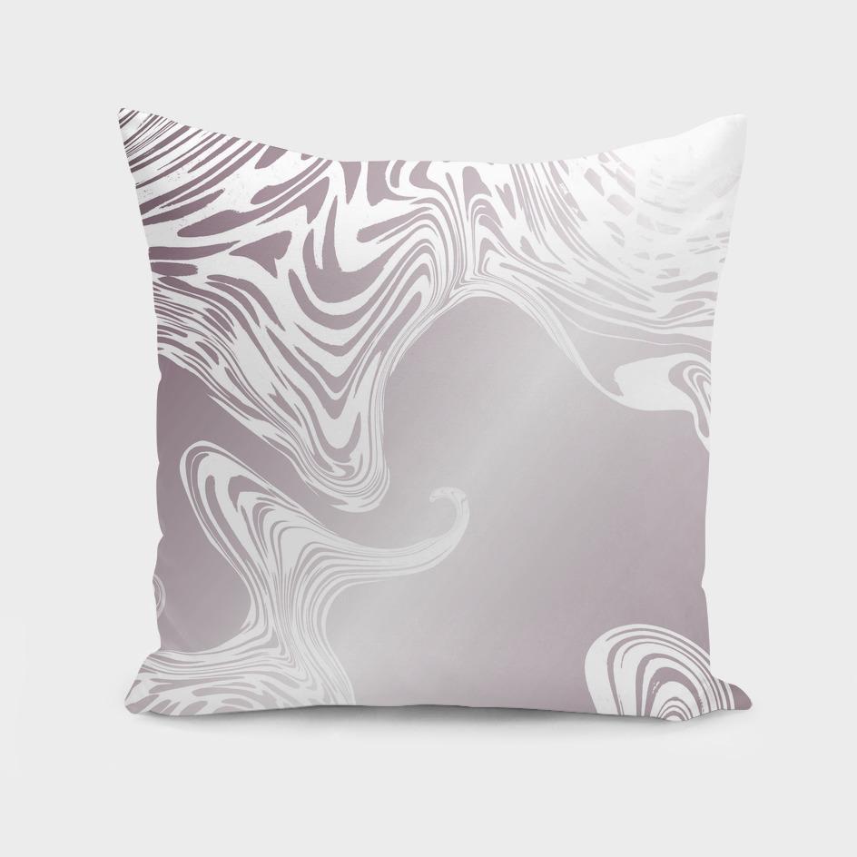 Rose Gold Liquid Marble Effect Design