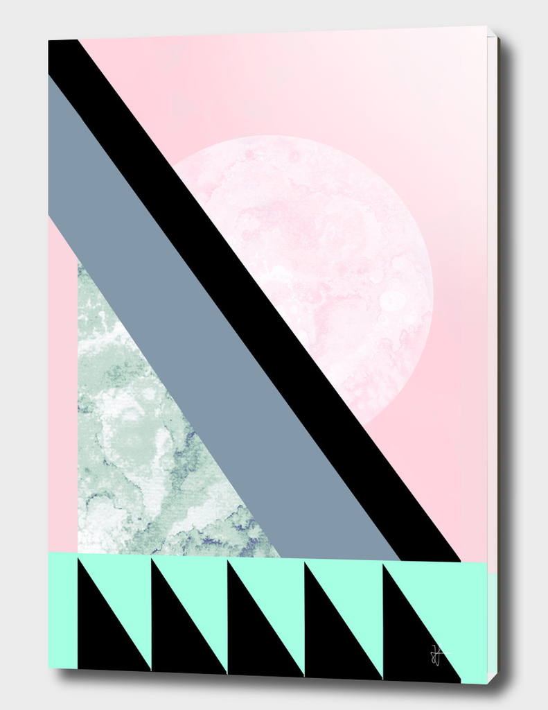 Turquoise Pink Geometric