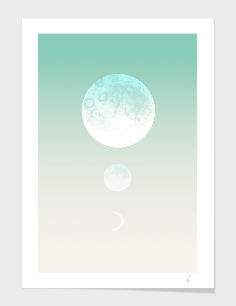 Moon Triplet Turquoise