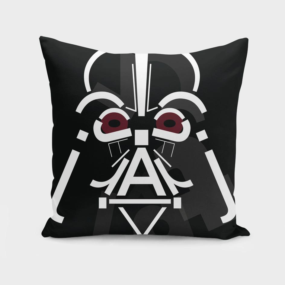 Darth Vader Typography Portrait