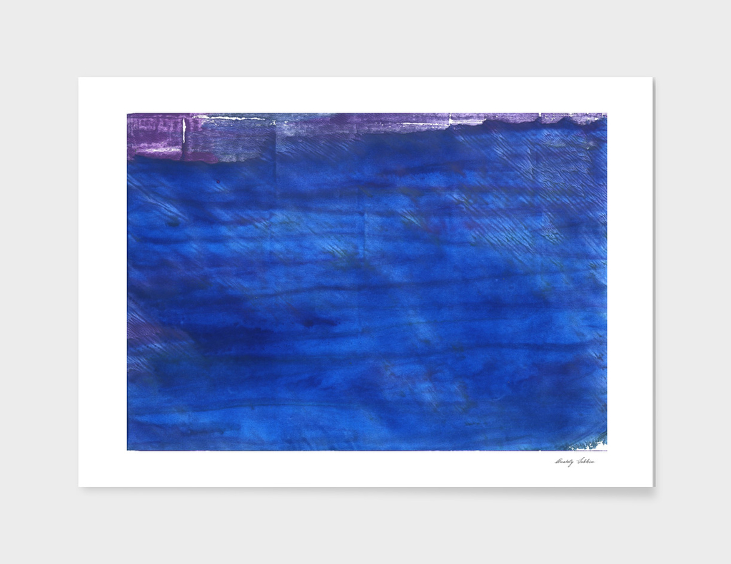 Denim Blue abstract watercolor