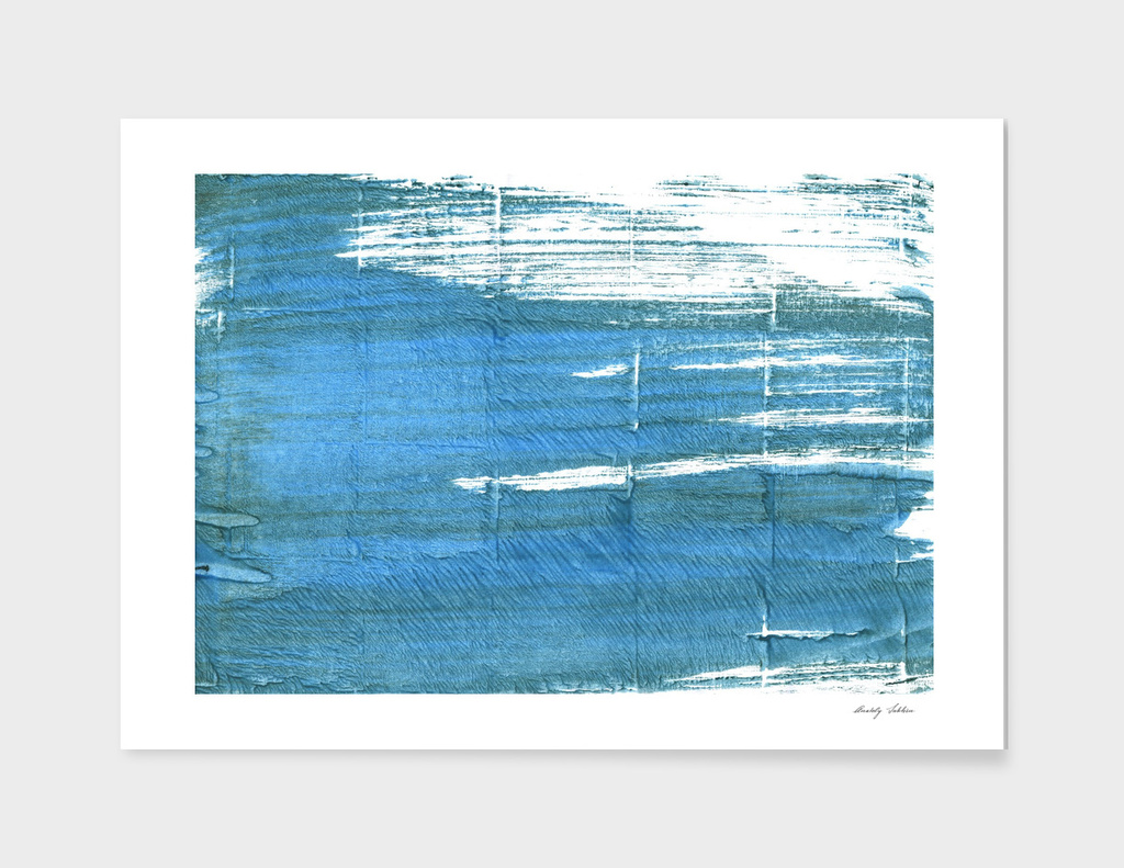 Steel blue abstract watercolor