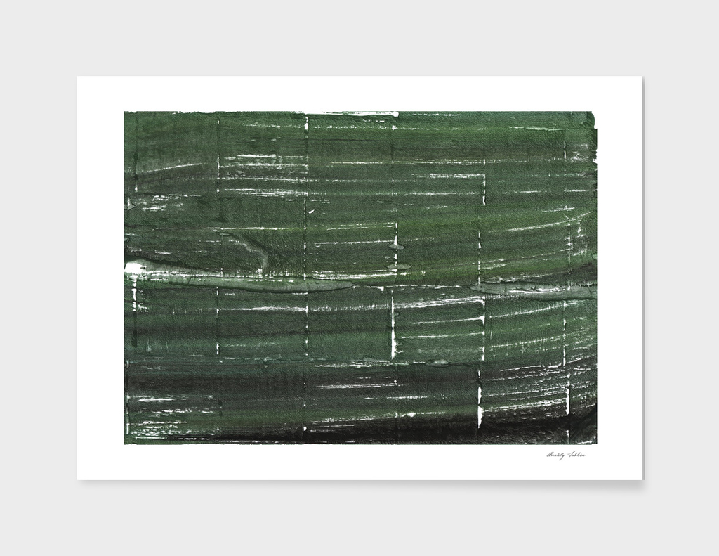 Kombu green abstract watercolor