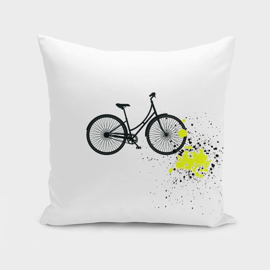 Bicycle with yellow splash