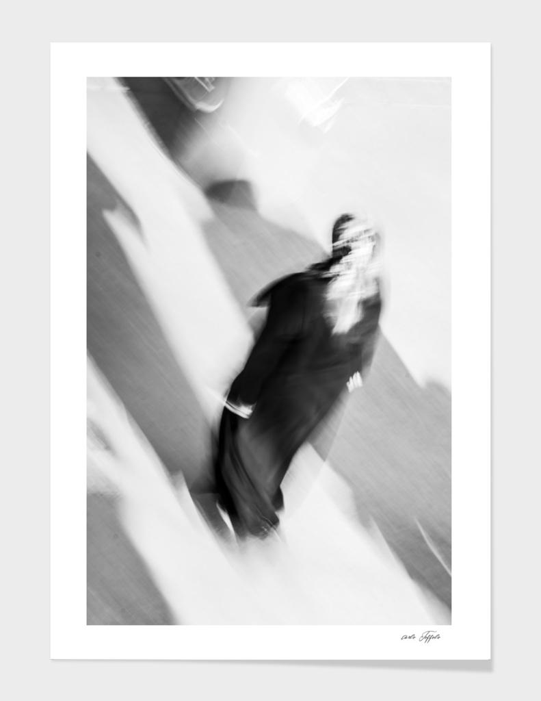 Turkish woman is walking