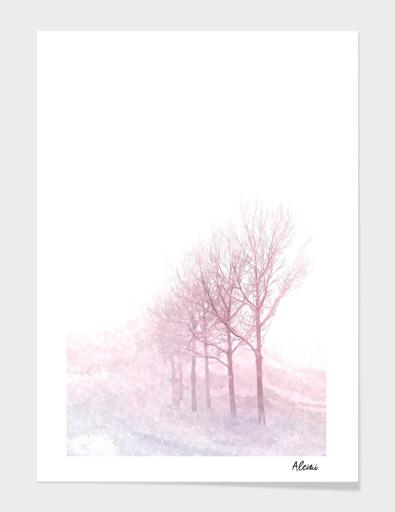 Pink Winter Trees