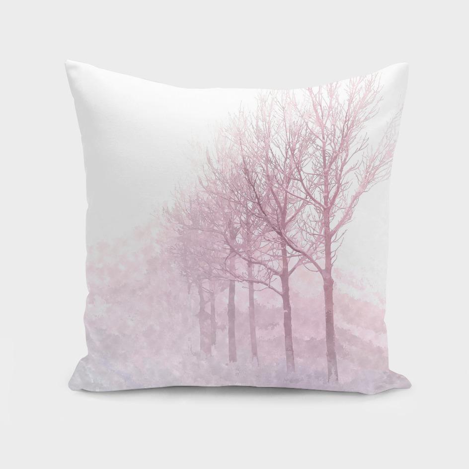 Pink Winter Trees