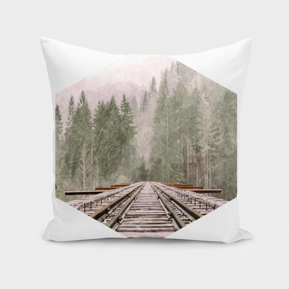 Geometric Railroad and Trees