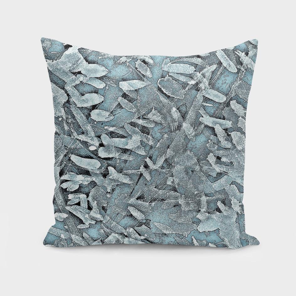 Ocean Tips Silver Blue Abstract