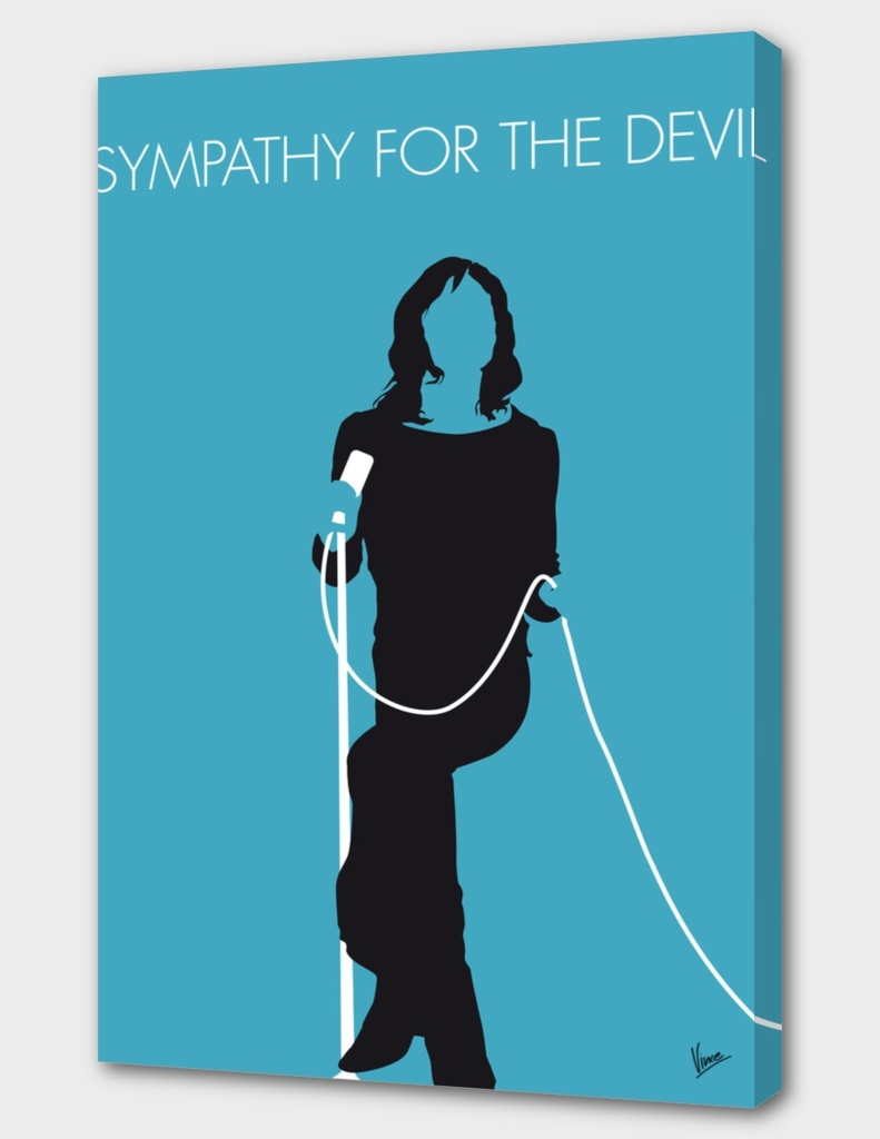 No005 MY The stones Minimal Music poster-curioos