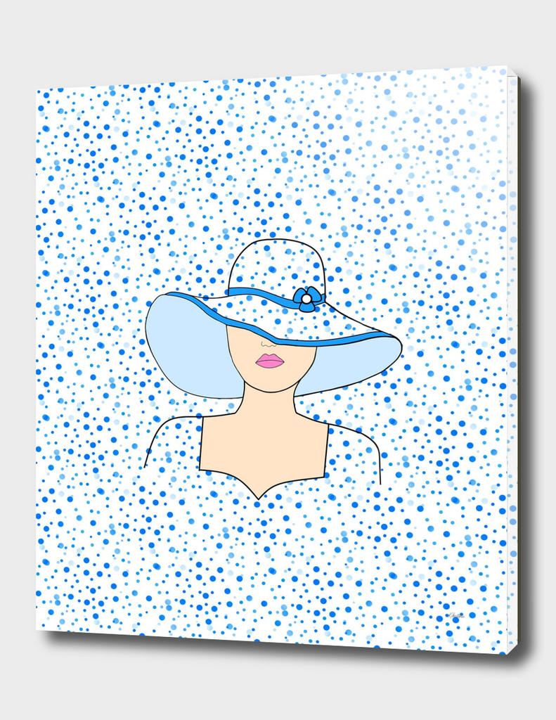 Fashion Portrait In Blue