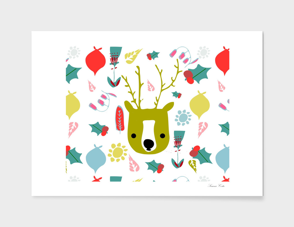 Cute holiday Reindeer