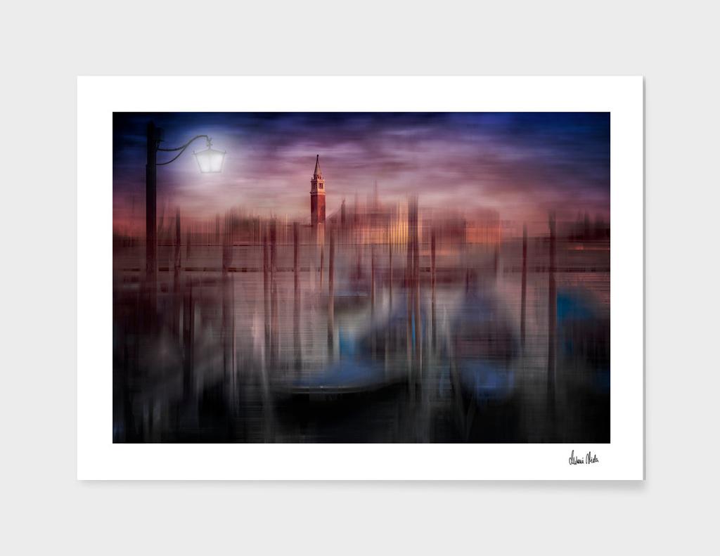 City-Art VENICE Gondolas at Sunset