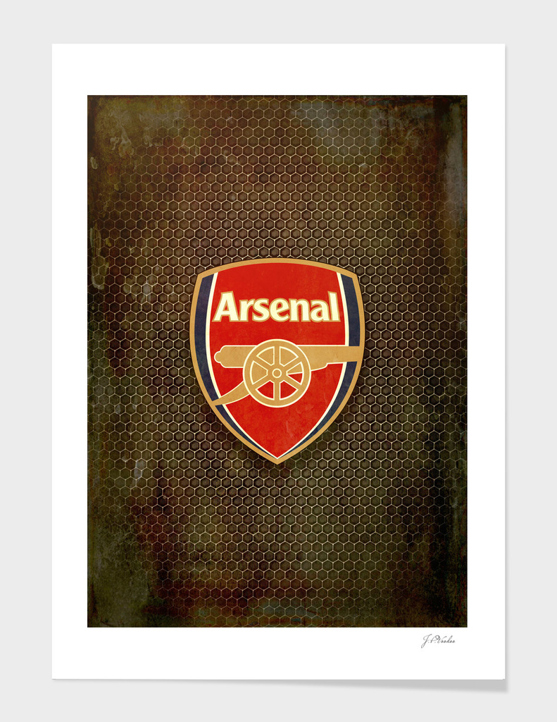 FC Arsenal metal background
