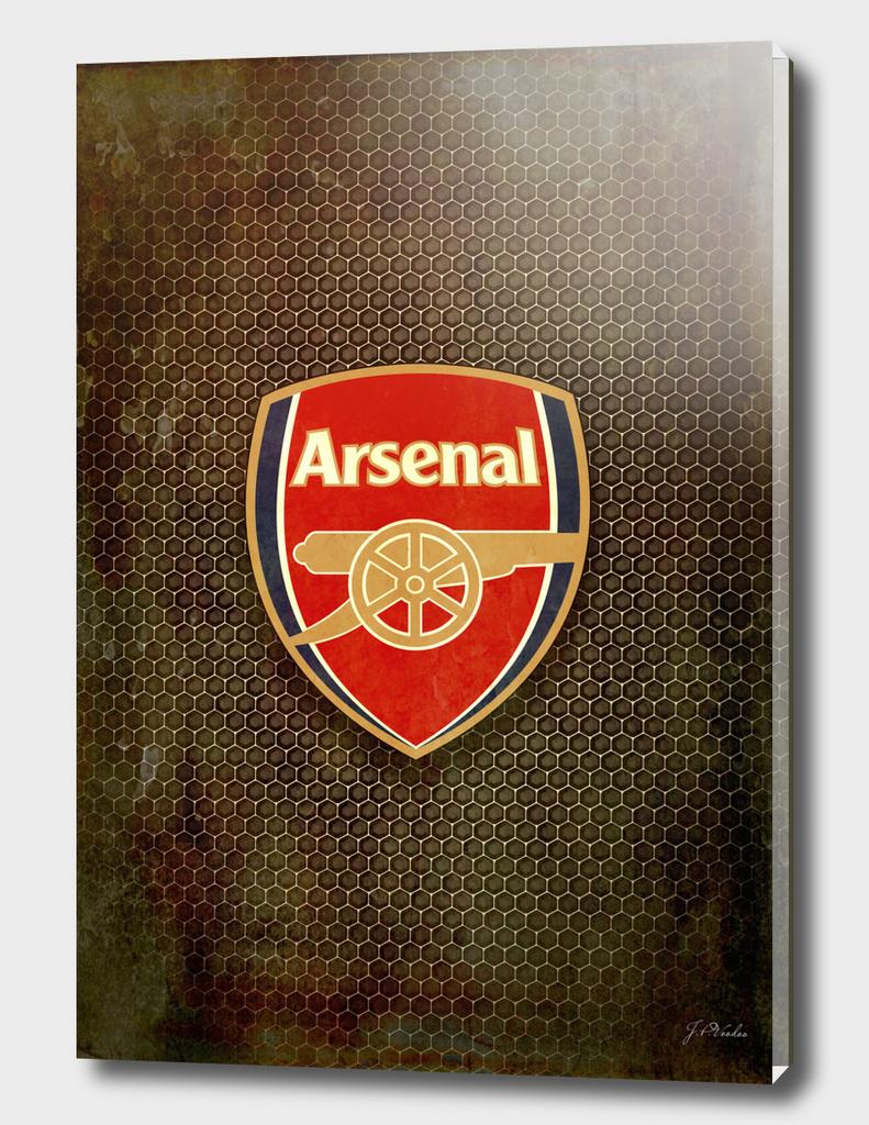 FC Arsenal metal background