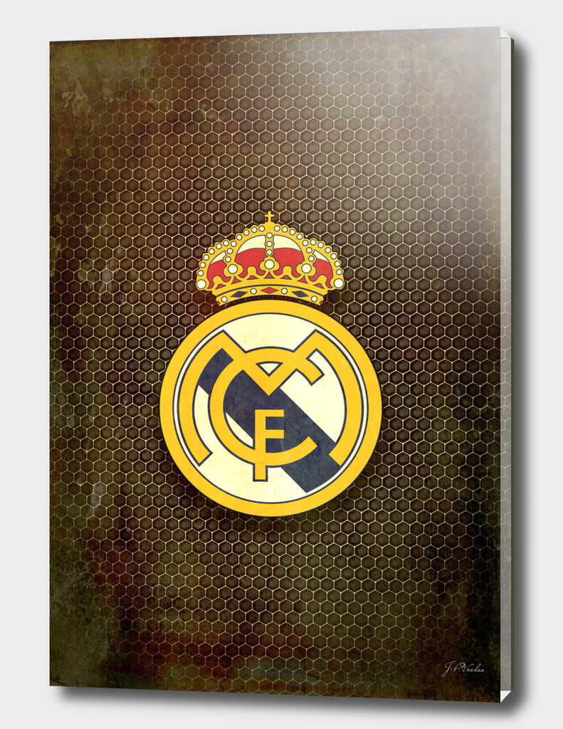 Real Madrid CF metal background