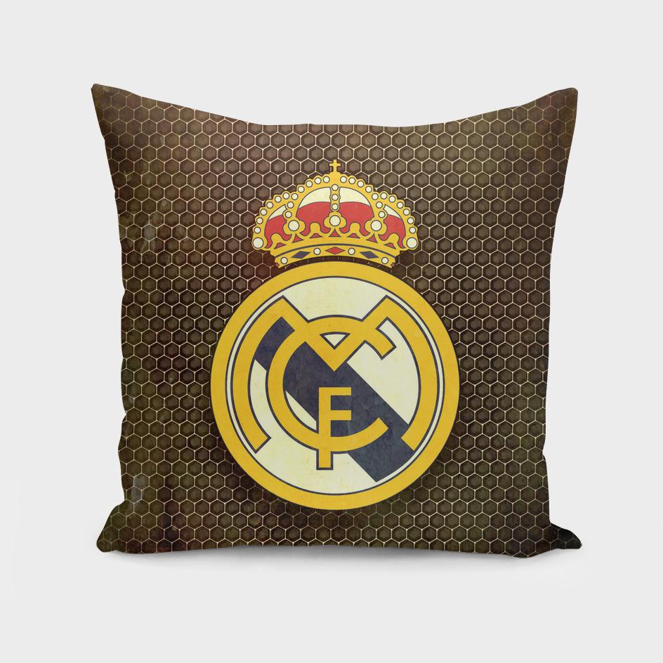Real Madrid CF metal background