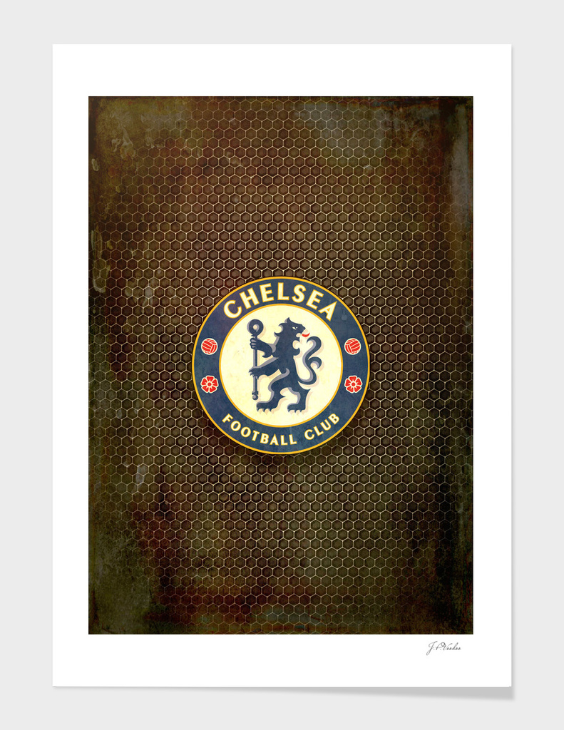 FC Chelsea metal background