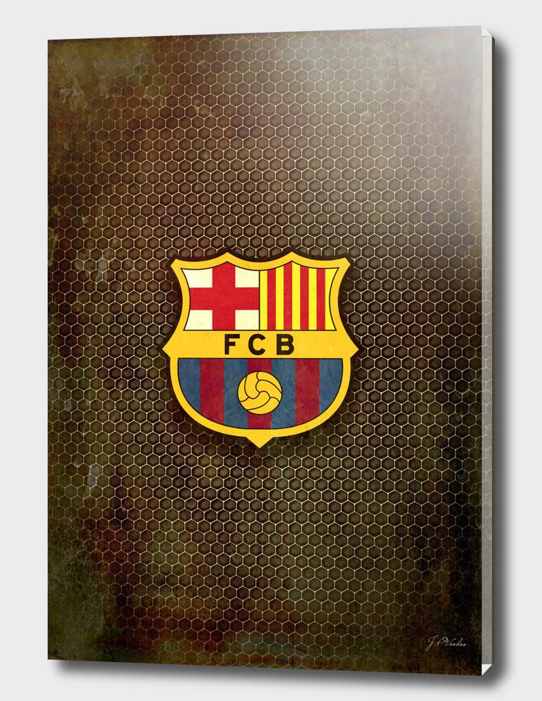 FC Barcelona metal background
