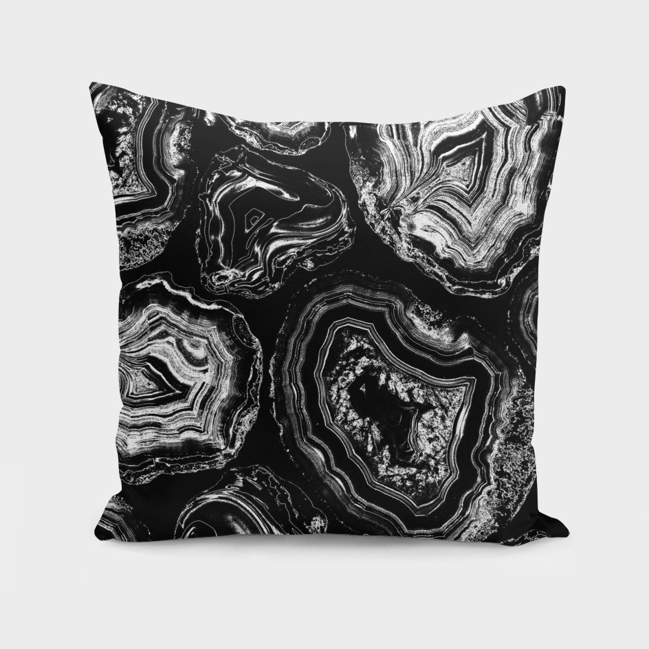 Black marble art