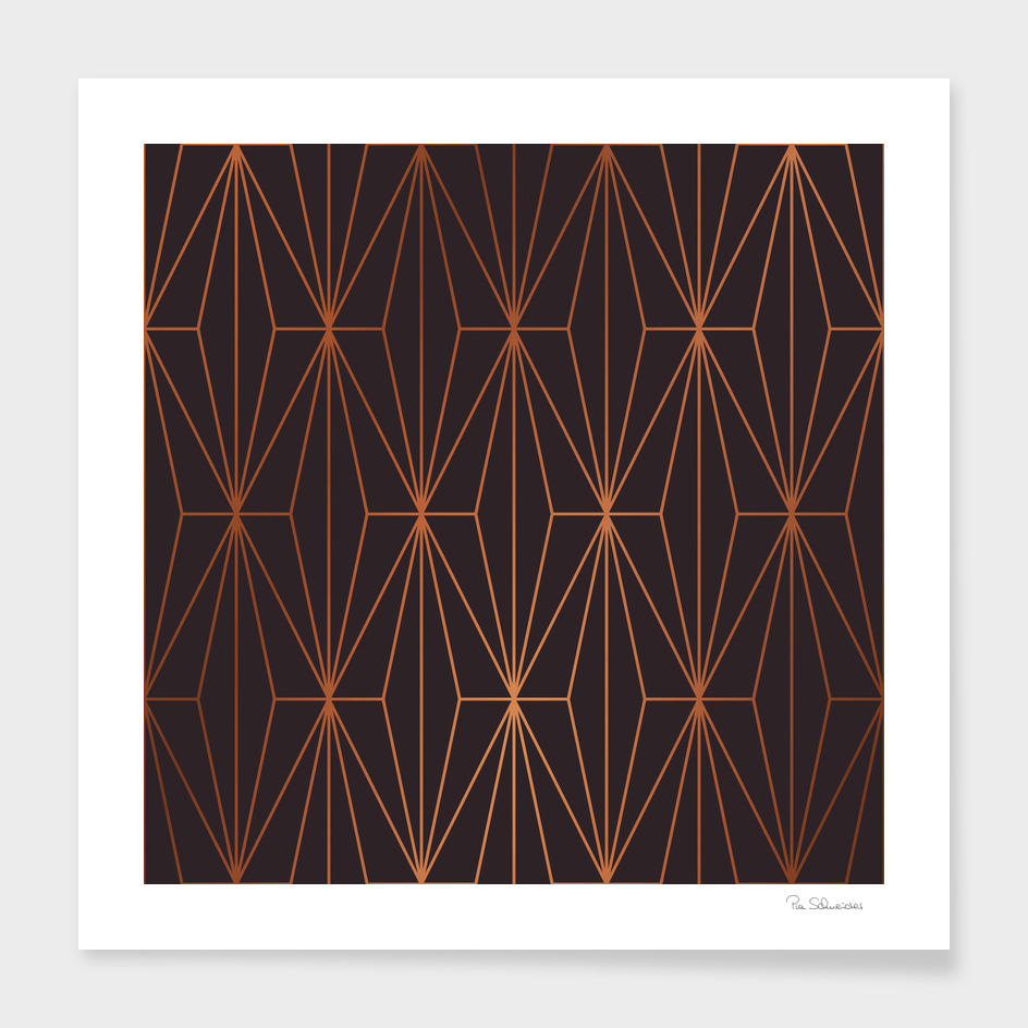 ELEGANT BLACK BEAN COPPER PATTERN