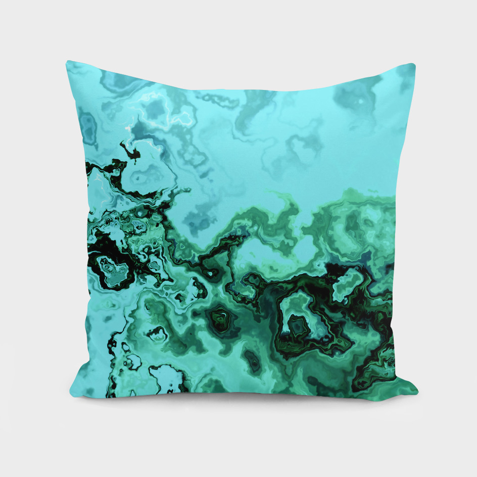 TURQUOISE GEODE ABSTRACT