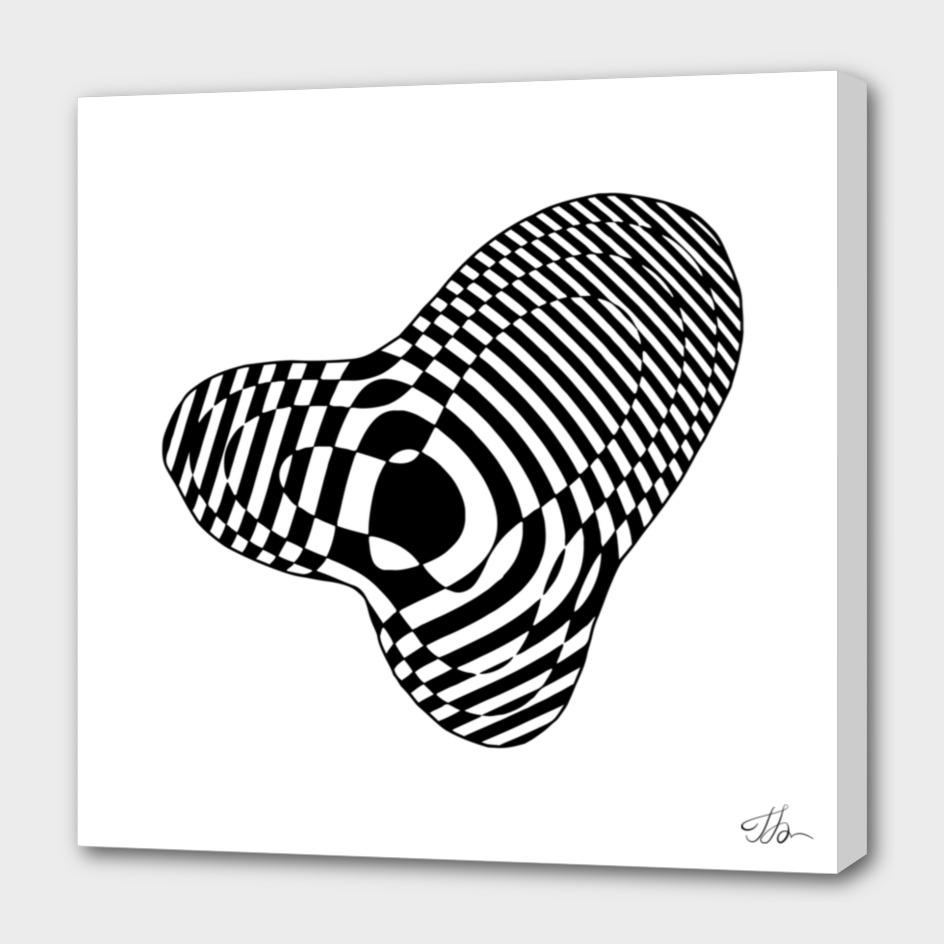 Op-art heart