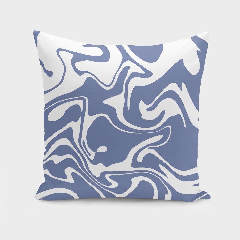 Soft Violet Liquid Marble Effect Design