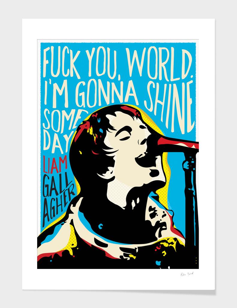 Liam Gallagher pop art quote