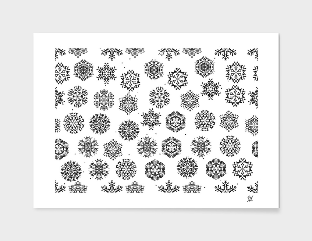 Luxurious Snowflakes ~ B&W
