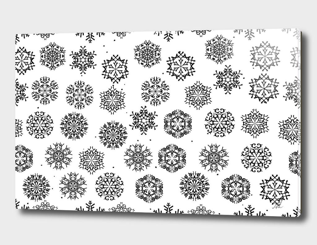 Luxurious Snowflakes ~ B&W