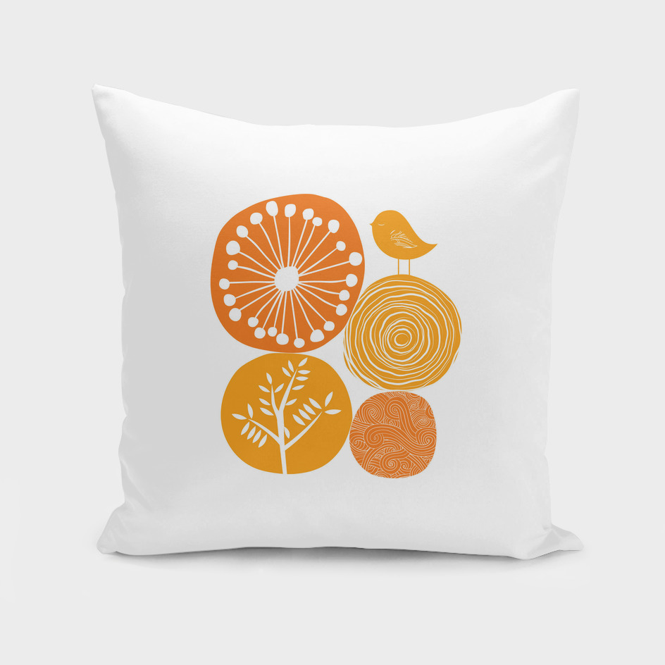 Abstract Nature Orange