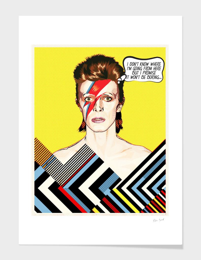David Bowie Pop Art Quote