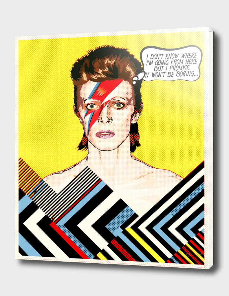 David Bowie Pop Art Quote