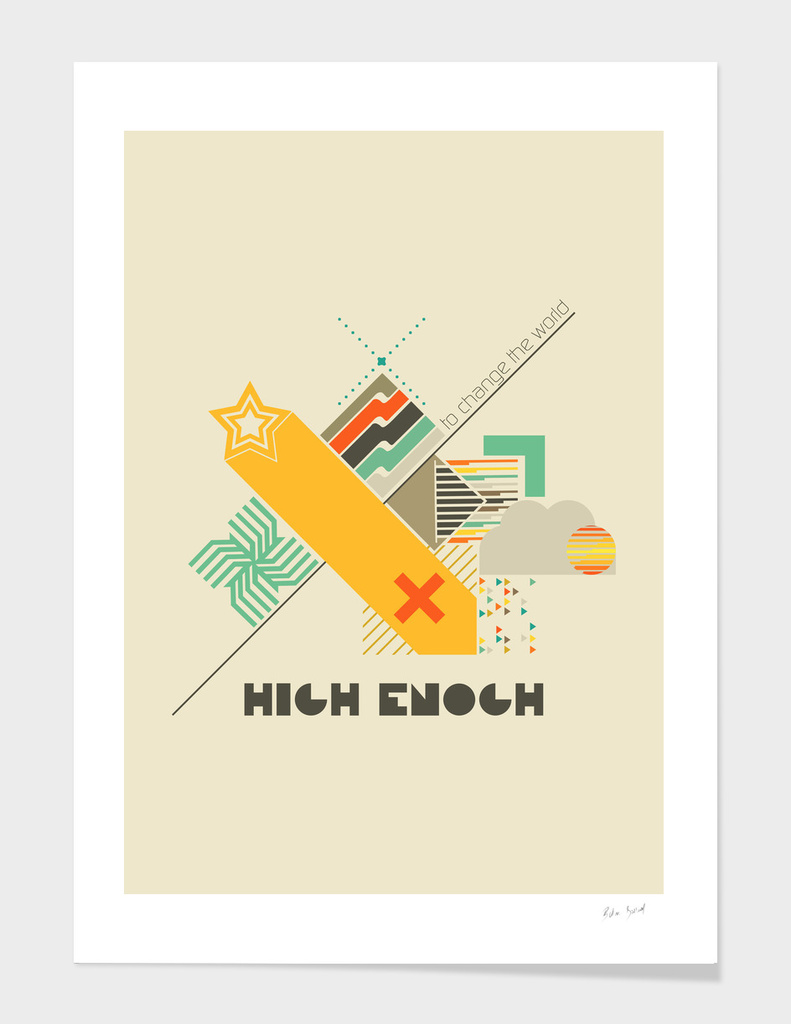 High enough retro poster