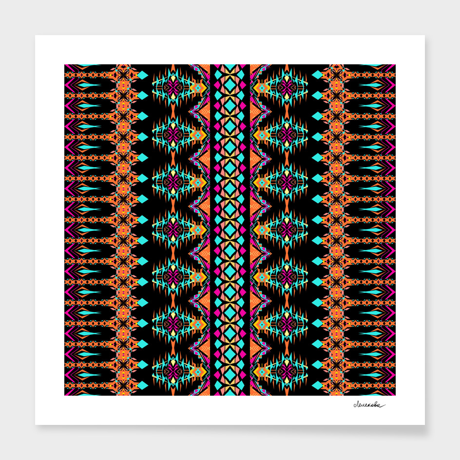 Tribal ethnic geometric ornament
