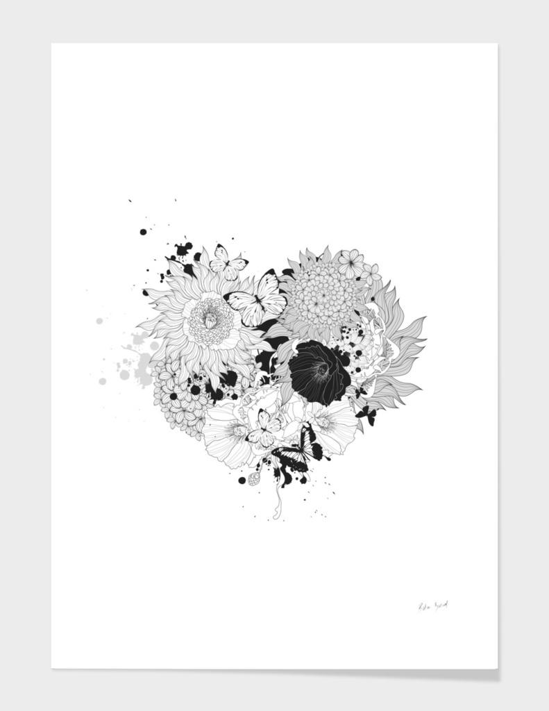 Love Garden Floral Heart