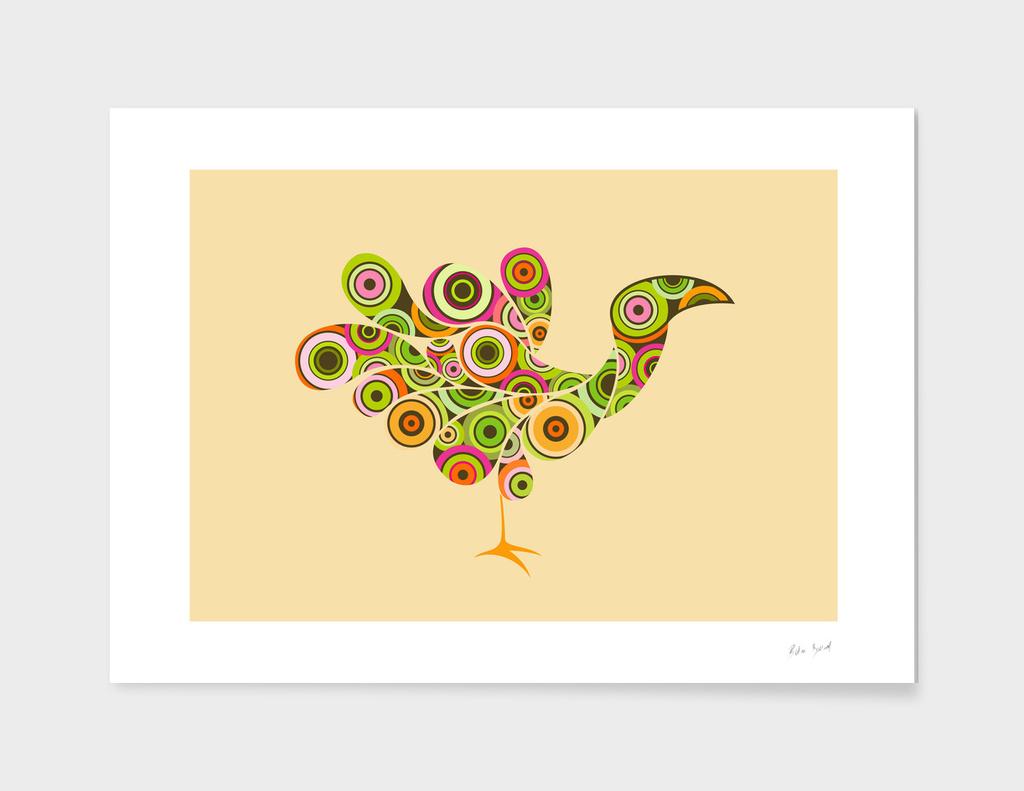 peacock retro