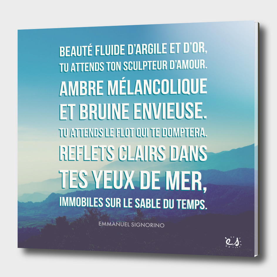 French Poetry Words of Dream