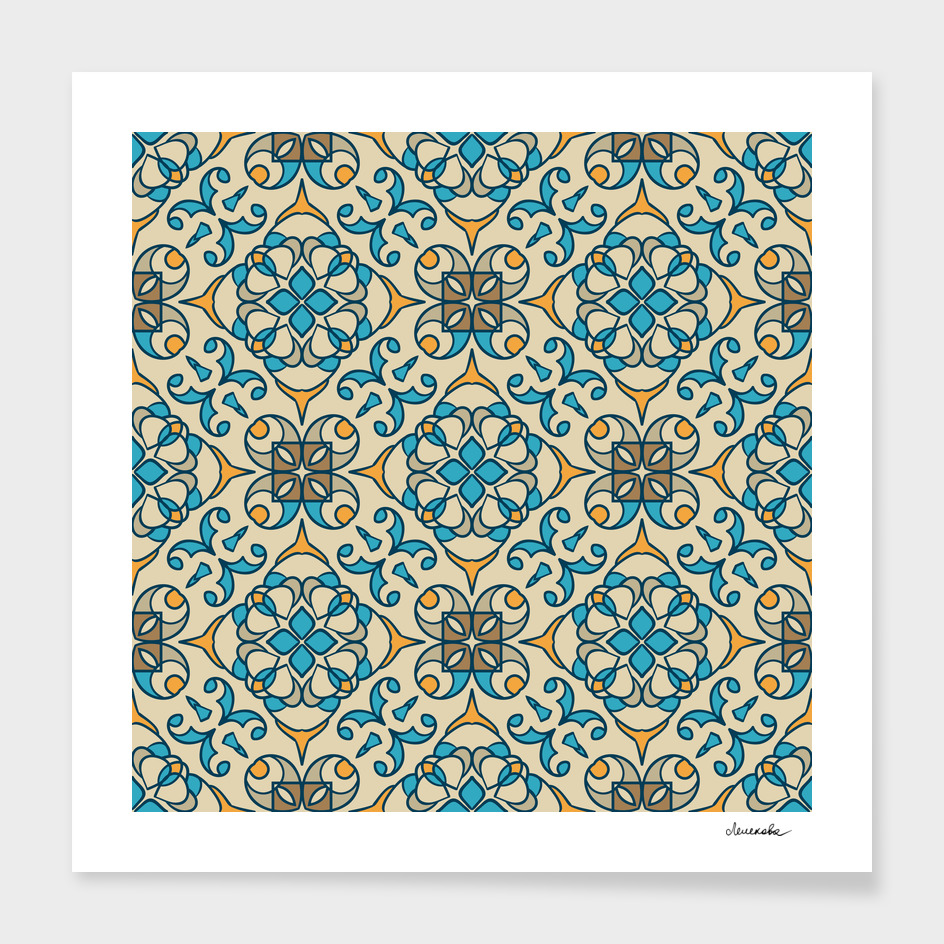 Eastern floral geometric ornament
