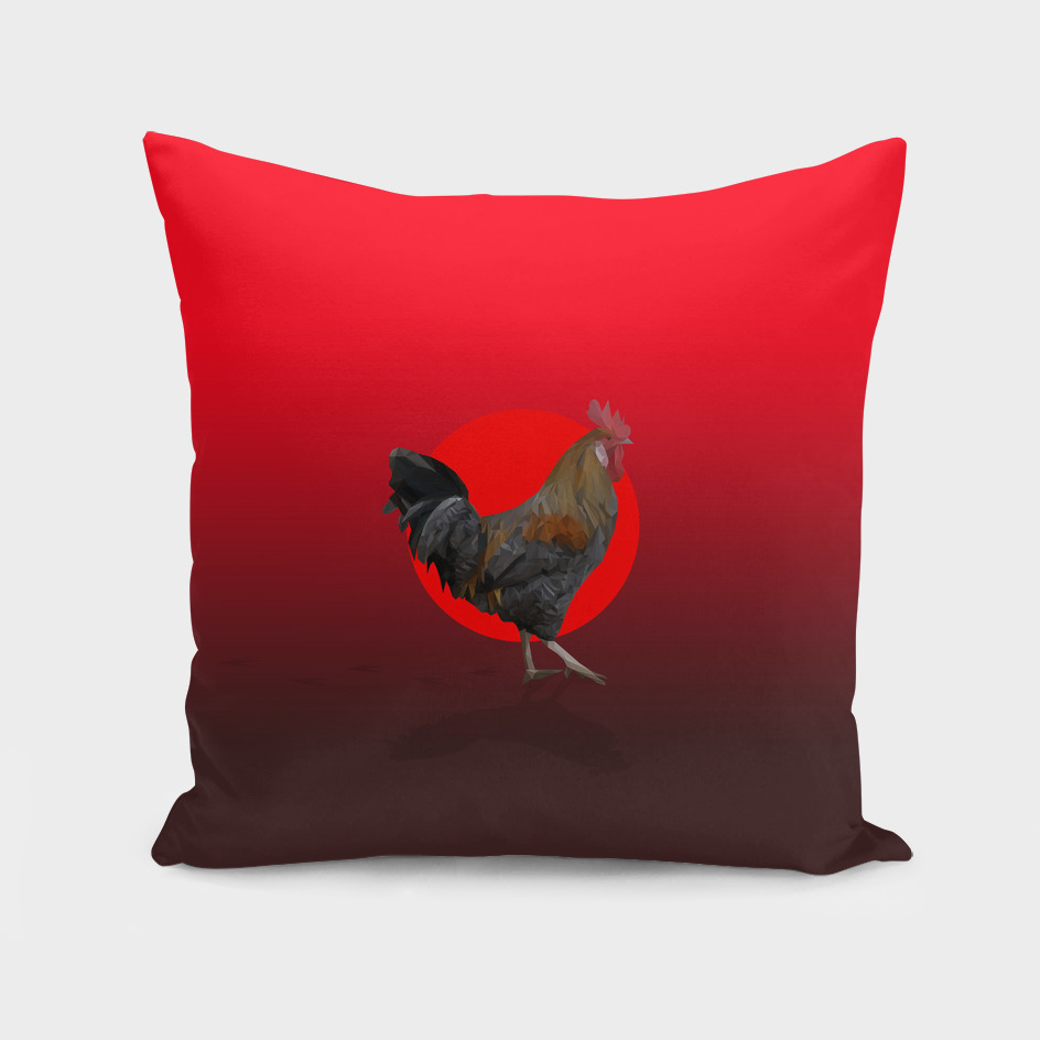 Polygonal Rooster leghorn cock