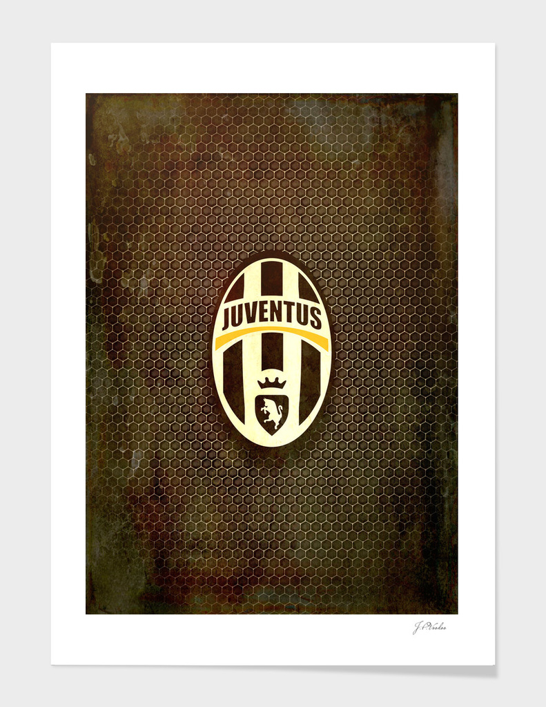 FC Juventus metal background