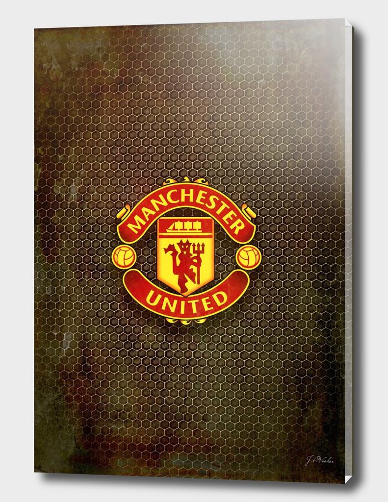FC Manchester United metal background