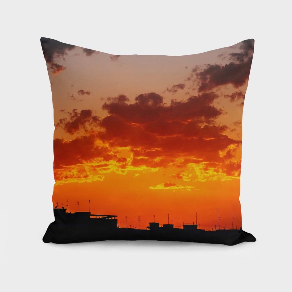 Beautiful Summer Sunset Over Valencia City