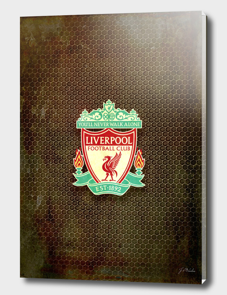 FC Liverpool metal background