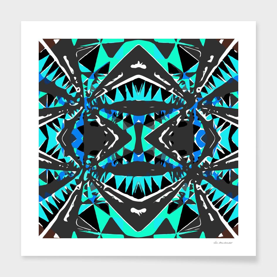 geometric triangle symmetry art pattern abstract in green