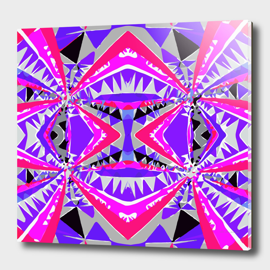 geometric triangle symmetry art pattern abstract in purple