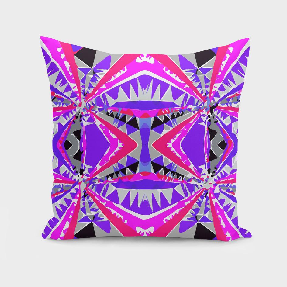 geometric triangle symmetry art pattern abstract in purple